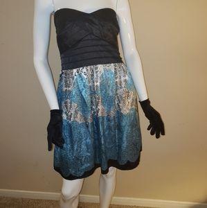 Studio Y Strapless silky dress